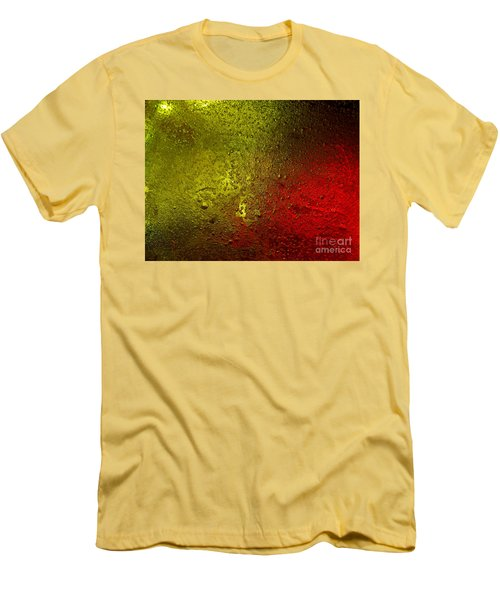 Men's T-Shirt (Slim Fit) featuring the photograph Light Under Ice by Trena Mara