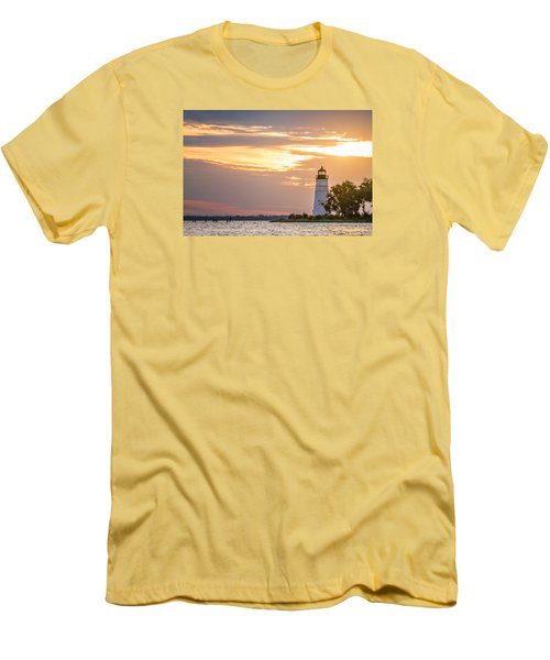 Lighting The Way Men's T-Shirt (Slim Fit) by Andy Crawford