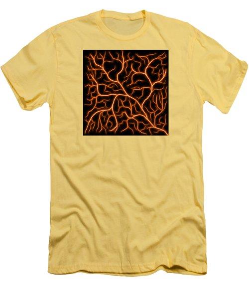 Lightning - Orange Men's T-Shirt (Athletic Fit)