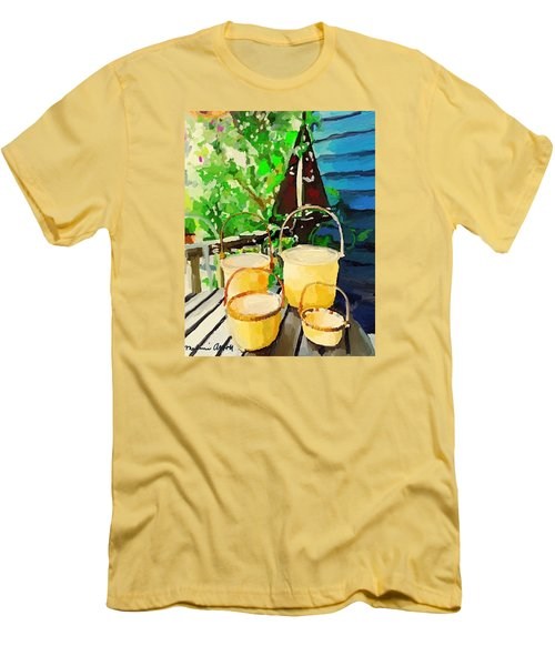 Lightship Baskets And An Old Sailboat Windvane Men's T-Shirt (Athletic Fit)