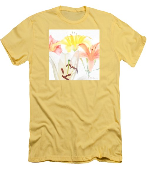 Men's T-Shirt (Athletic Fit) featuring the photograph Lilies by David Perry Lawrence