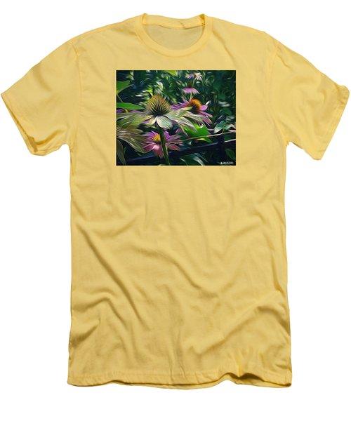 Men's T-Shirt (Slim Fit) featuring the digital art Lil's Garden by Phil Mancuso