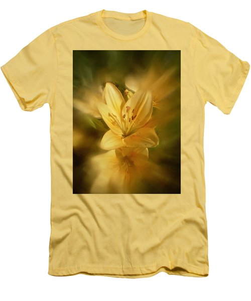 Men's T-Shirt (Slim Fit) featuring the photograph Lily Be Mine by Richard Cummings