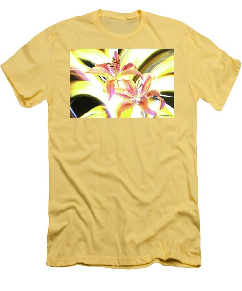 Lily Burst Men's T-Shirt (Slim Fit) by Andrew Nourse