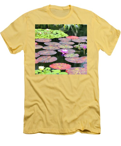 Lily Pads And Parasols Men's T-Shirt (Athletic Fit)