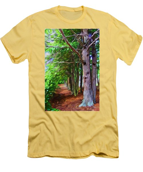Lincoln's Path Men's T-Shirt (Slim Fit) by Joan Reese