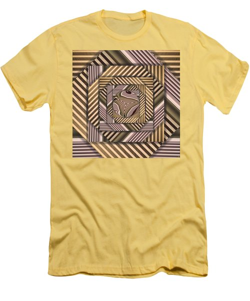 Men's T-Shirt (Slim Fit) featuring the digital art Line Geometry by Ron Bissett