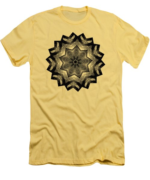 Lines In A Star By Kaye Menner Men's T-Shirt (Slim Fit) by Kaye Menner