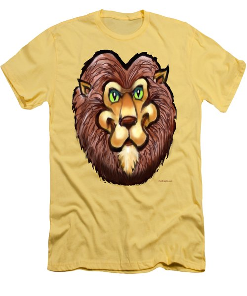 Lion Men's T-Shirt (Slim Fit) by Kevin Middleton