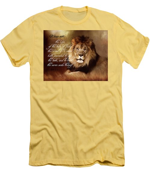 Lion Of Judah Men's T-Shirt (Slim Fit) by TnBackroadsPhotos