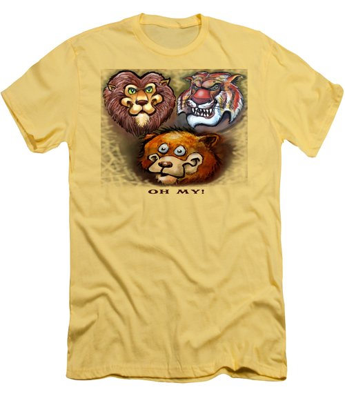 Lions And Tigers And Bears Oh My Men's T-Shirt (Slim Fit) by Kevin Middleton