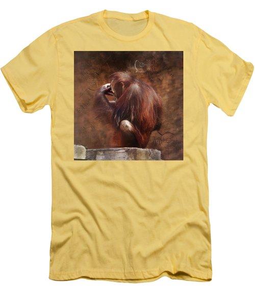 Men's T-Shirt (Slim Fit) featuring the photograph Little Einstein by Sharon Jones