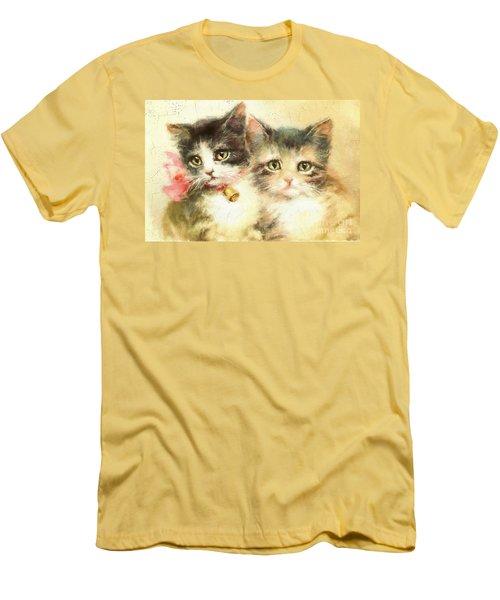 Little Kittens Men's T-Shirt (Athletic Fit)