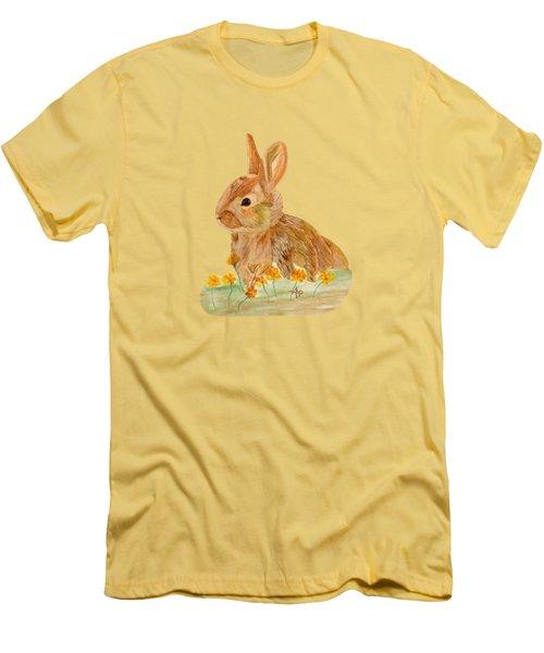 Little Rabbit Men's T-Shirt (Slim Fit) by Angeles M Pomata