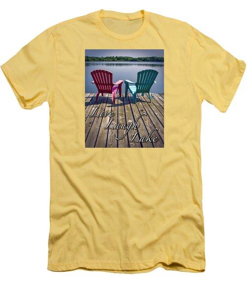 Live Laugh Lake Men's T-Shirt (Athletic Fit)