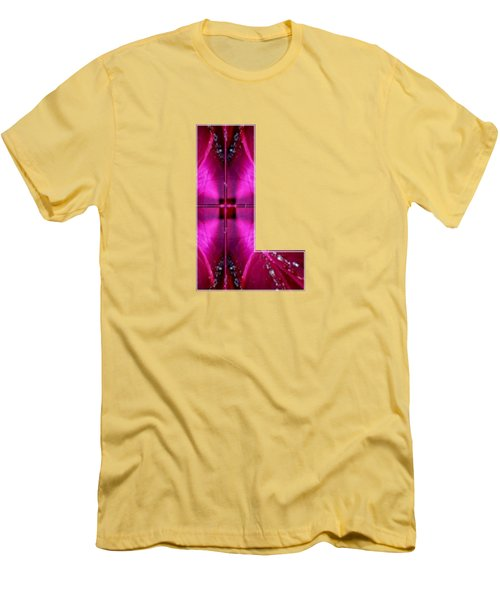 Lll Ll L Alpha Art On Shirts Alphabets Initials   Shirts Jersey T-shirts V-neck By Navinjoshi Men's T-Shirt (Athletic Fit)