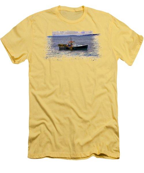 Lobstermen Men's T-Shirt (Slim Fit) by John M Bailey