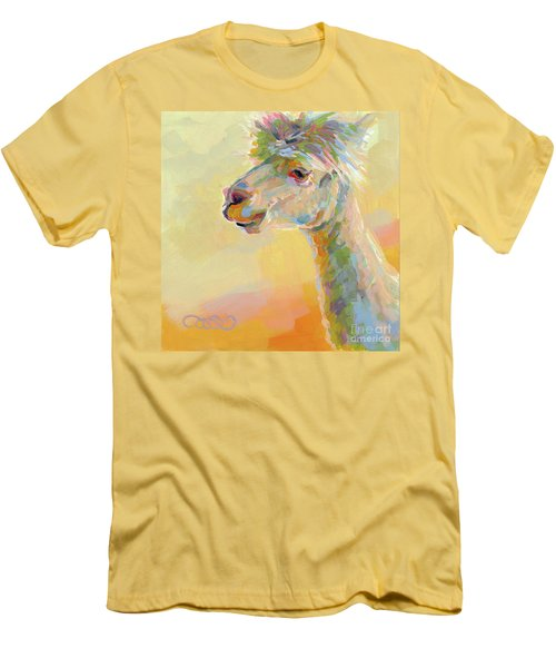 Lolly Llama Men's T-Shirt (Slim Fit) by Kimberly Santini