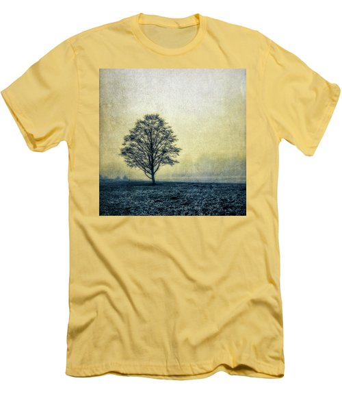 Lonely Tree Men's T-Shirt (Slim Fit) by Marion McCristall