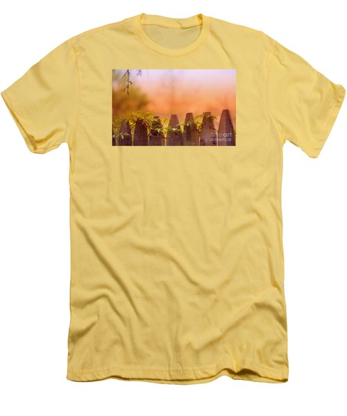 Men's T-Shirt (Slim Fit) featuring the photograph Look Beyond The Boundary by Rima Biswas