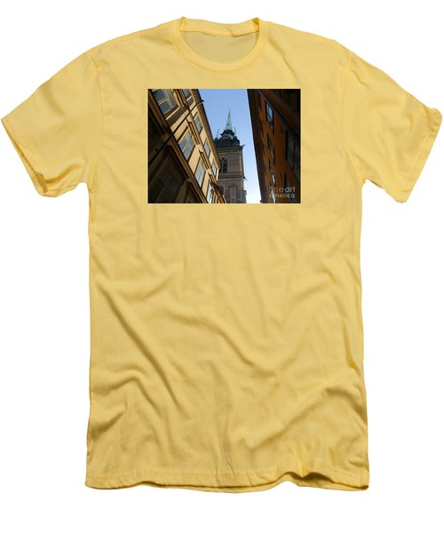 Looking Up From A Stockholm Street Men's T-Shirt (Slim Fit) by Margaret Brooks