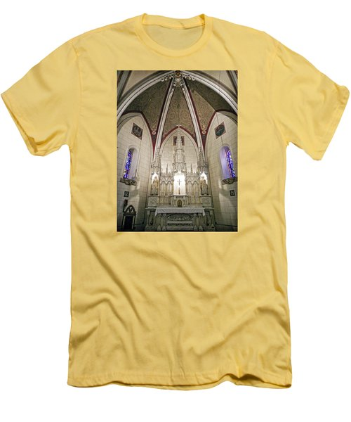 Men's T-Shirt (Slim Fit) featuring the photograph Loretto Chapel Santa Fe by Kurt Van Wagner