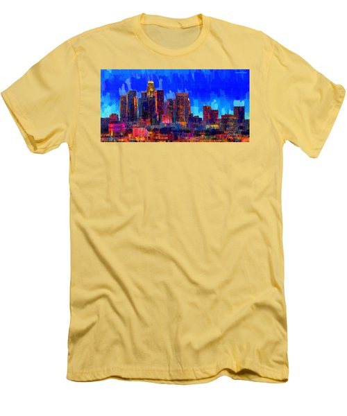Los Angeles Skyline 106 - Pa Men's T-Shirt (Athletic Fit)