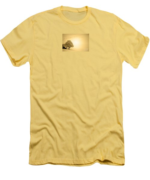 Men's T-Shirt (Slim Fit) featuring the photograph Lost In Snow - Winter In Switzerland by Susanne Van Hulst