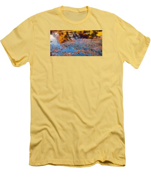 Men's T-Shirt (Slim Fit) featuring the photograph Lost In The Pond by Spyder Webb