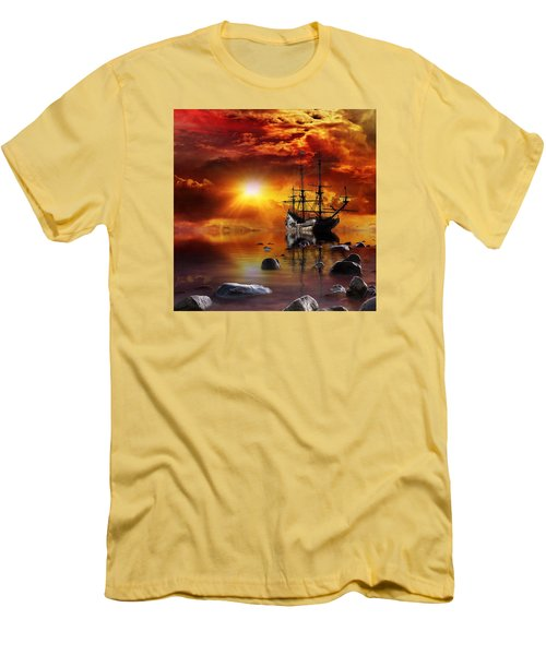 Lost In Time Men's T-Shirt (Slim Fit) by Gabriella Weninger - David