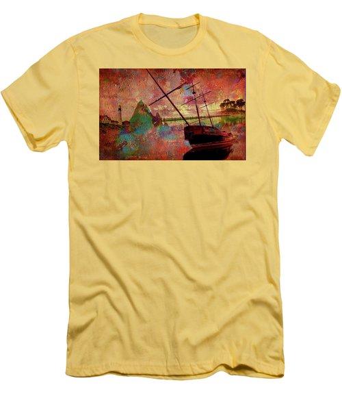 Men's T-Shirt (Slim Fit) featuring the digital art Lost Island by Greg Sharpe