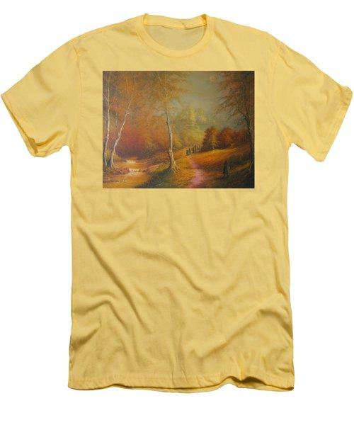 Lothlorien Men's T-Shirt (Slim Fit) by Joe  Gilronan