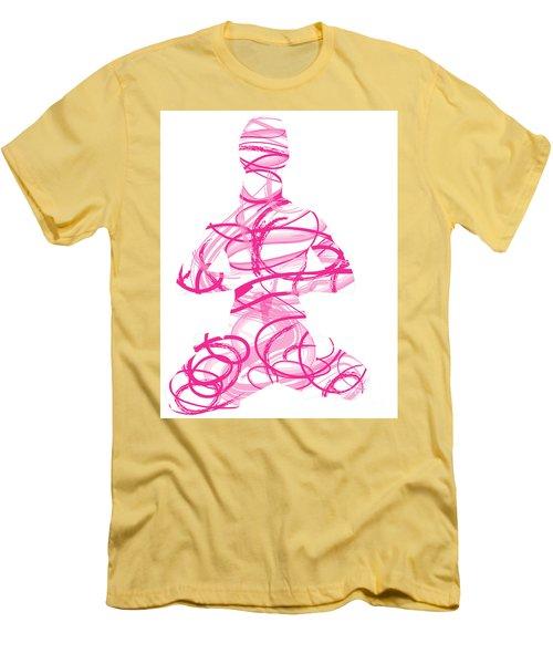 Yoga Pose Asana Lotus Pose Men's T-Shirt (Athletic Fit)