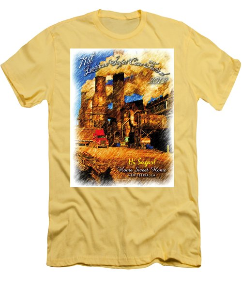 Louisiana Sugar Cane Poster 2012 Men's T-Shirt (Slim Fit) by Ronald Olivier