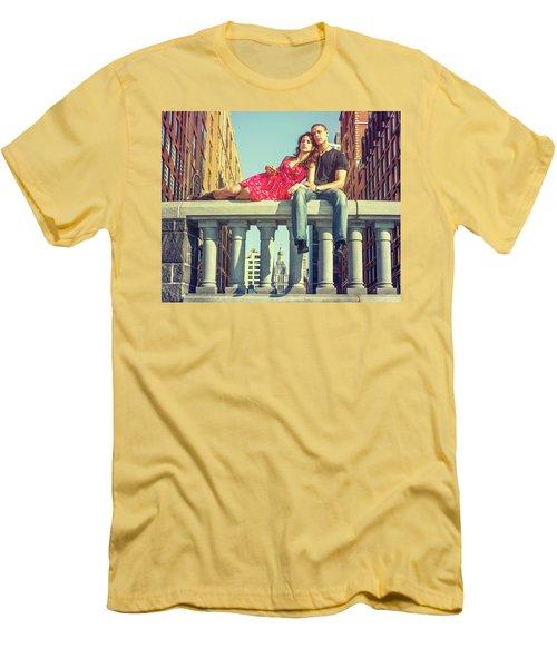 Love In Big City Men's T-Shirt (Athletic Fit)