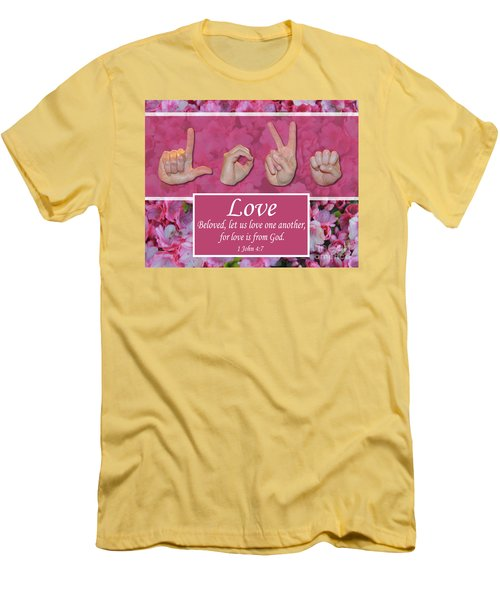 Love One Another Men's T-Shirt (Athletic Fit)