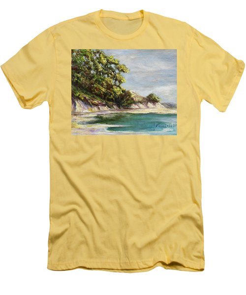 Low Tide Beach Men's T-Shirt (Slim Fit) by Danuta Bennett