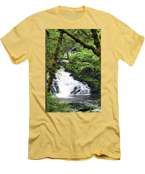 Lower Lunch Creek Falls Men's T-Shirt (Athletic Fit)