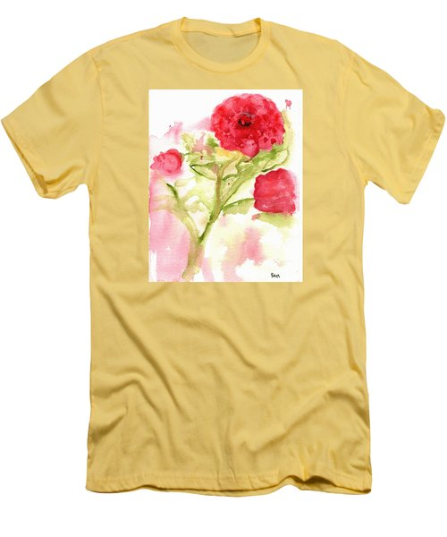 Lucky Rose Men's T-Shirt (Slim Fit) by Sandy McIntire