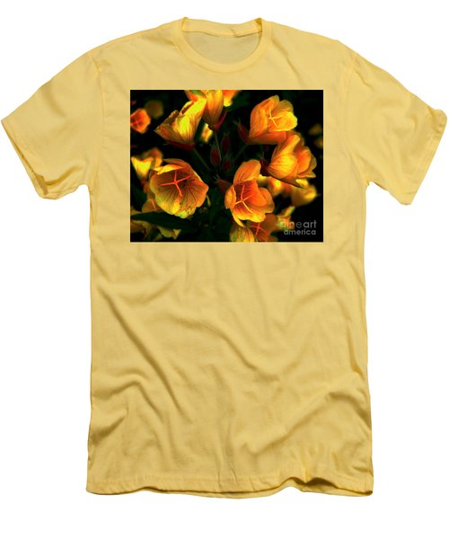Men's T-Shirt (Slim Fit) featuring the photograph Luminous by Elfriede Fulda