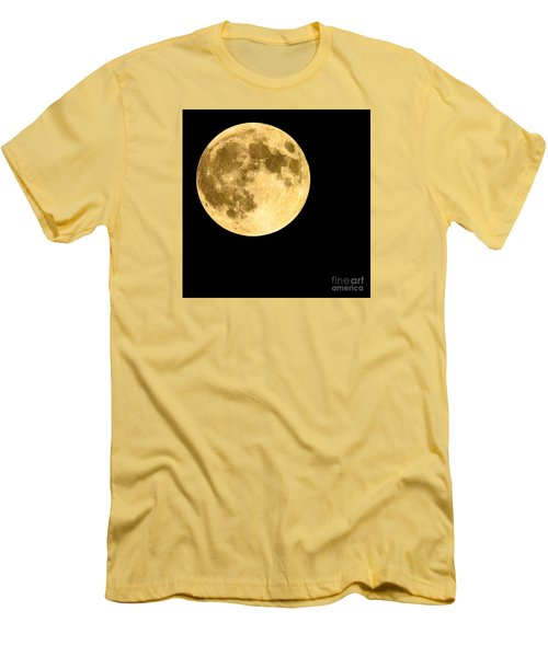Men's T-Shirt (Slim Fit) featuring the photograph Lunar Close Up by Sandy Molinaro
