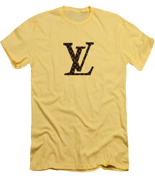 Lv Pattern Men's T-Shirt (Athletic Fit)