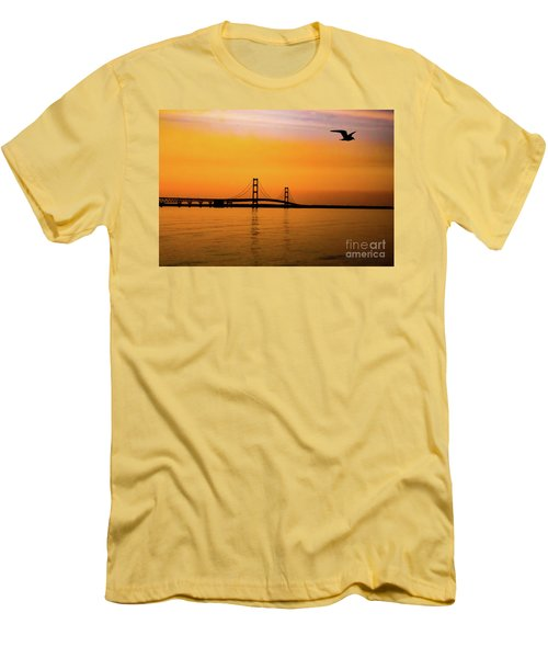 Mackinaw Sunset  Men's T-Shirt (Athletic Fit)