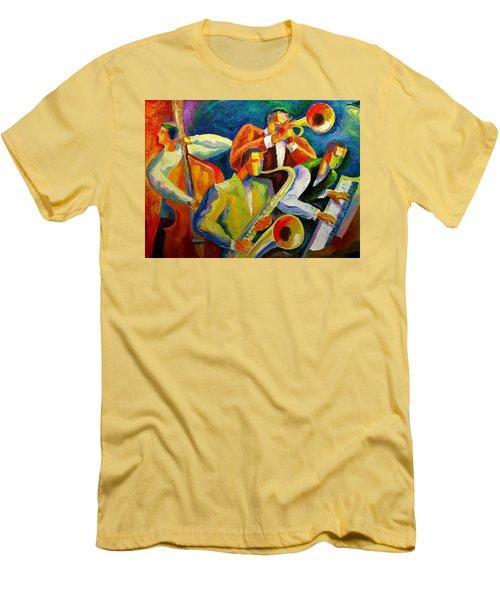 Magic Music Men's T-Shirt (Slim Fit) by Leon Zernitsky