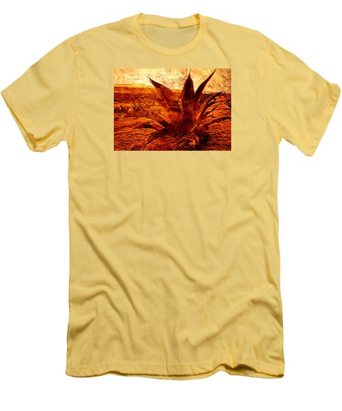 Maguey Agave Men's T-Shirt (Slim Fit) by J- J- Espinoza