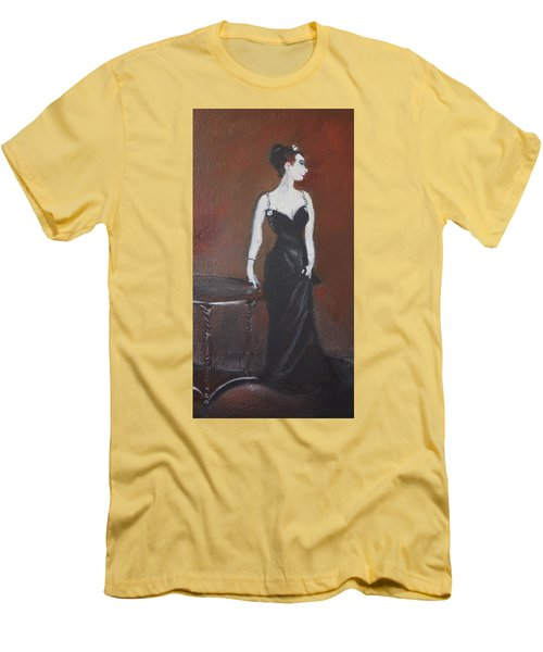 Men's T-Shirt (Slim Fit) featuring the painting Mah Lady by Gary Smith