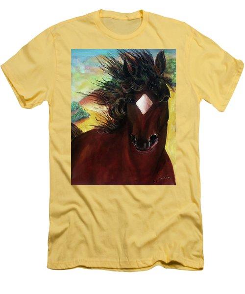 Mahogany  Men's T-Shirt (Athletic Fit)