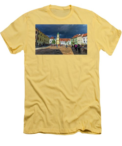 Main Square In The Old Town Of Bratislava, Slovakia Men's T-Shirt (Athletic Fit)