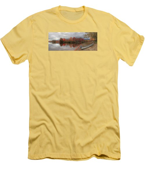 Maine Lake In Autumn Men's T-Shirt (Athletic Fit)