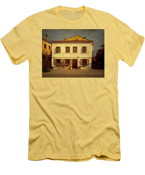 Men's T-Shirt (Slim Fit) featuring the photograph Malamocco House No1 by Anne Kotan